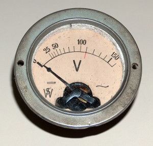 Voltmeter, 0 to 150 V., WS