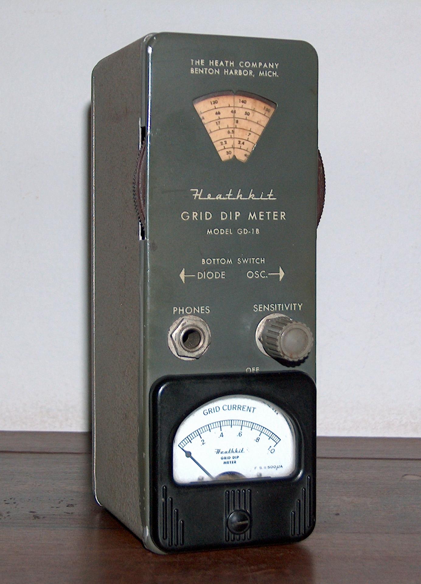 Grid Dip Meter Heathkit Model Gd 1b 171 Www Museu