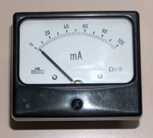 Ammeter, 0 to 100 mA, HB