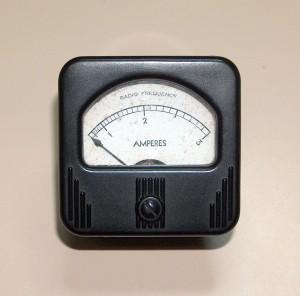 RF Ammeter, 0 to 3 A.