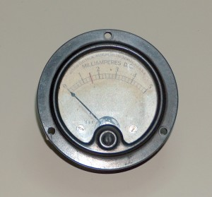 Ammeter, 0 to 5 mA, WESTON
