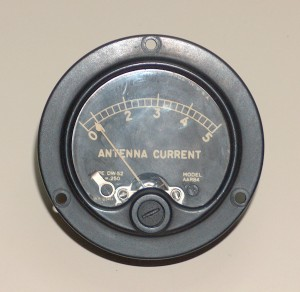 RF Ammeter, 0 to 5 A., WESTON