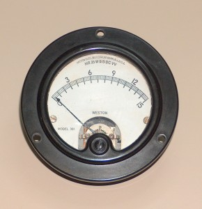 Voltmeter, 0 to 15 VCC, WESTON, 301