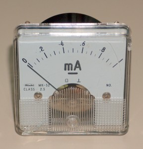 Ammeter, 0 to 1 mA,