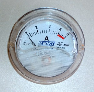 Ammeter, 0 to 5 A,