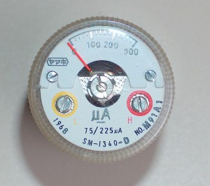 Ammeter, 0 to 200 uA