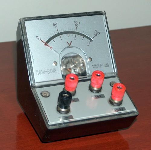 DC Voltmeter, KYORITSU, Model HEW-EDM