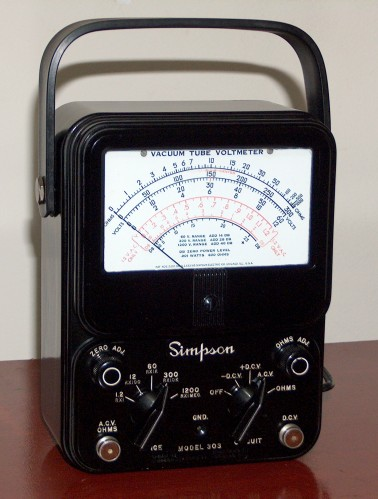 Vacum Tube Voltmeter, SIMPSON, Model 303