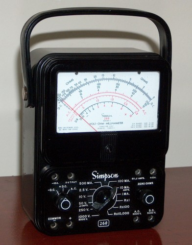 Multimeter, SIMPSON, Model 260 - Series 5