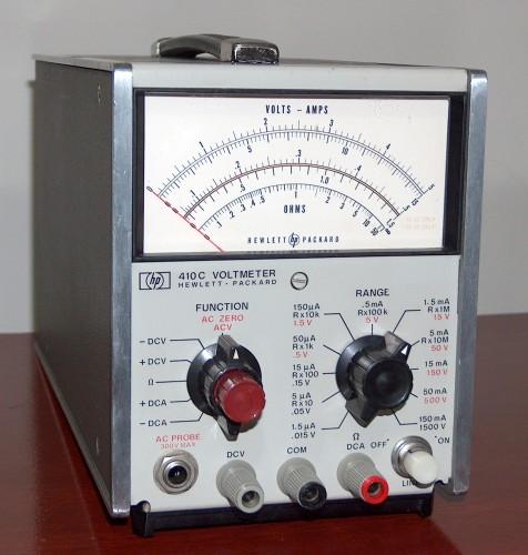 Voltmeter, HEWLETT-PACKARD, Model 410C (Solid State Version)