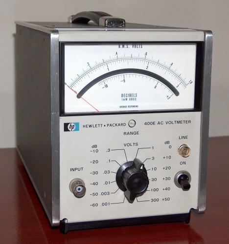 AC Voltmeter, HEWLETT-PACKARD, Model 400E (Version B)