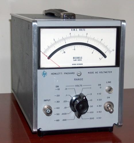 AC Voltmeter, HEWLETT-PACKARD, Model 400E (Version A)