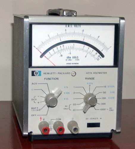 Voltmeter, HEWLETT-PACKARD, Model 427A (Version C)