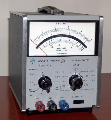 Voltmeter, HEWLETT-PACKARD, Model 427A (Version A)