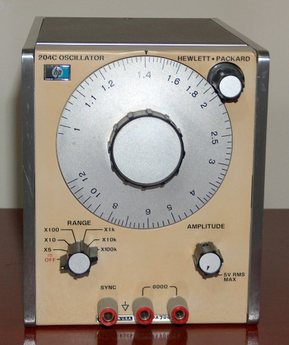 Audio Oscillator, HEWLETT-PACKARD, Model 204C