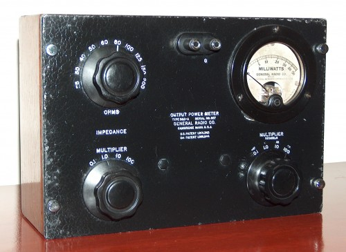 Output Power Meter, GENERAL RADIO, Model 583-A