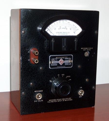 Megohmmeter, GENERAL RADIO, Model 1861-A