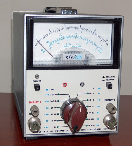 AC Voltmeter, KIKUSUI, Model 1832