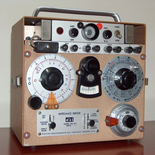 Impedance Bridge, ELECTRO MEASUREMENTS INC. (ESI), Model 250-DA