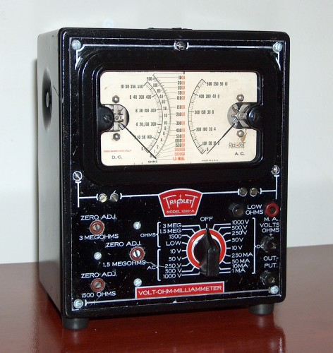 Volt-Ohm-Milliammeter, TRIPLETT, Model 1200-A