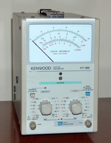 2 CH AC Voltmeter, KENWOOD, Model VT-186