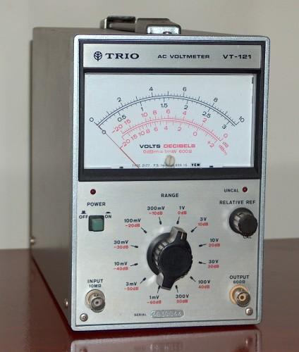 AC Voltmeter, TRIO, Model VT-121