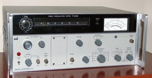FM/AM Modulation Meter, MARCONI, Model TF2300B