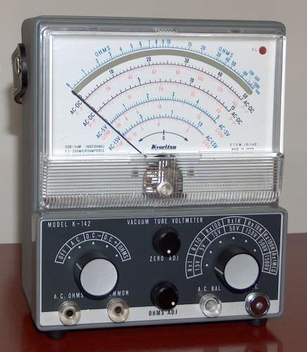 Vacuum Tube Voltmeter, KYORITSU, Model K-142