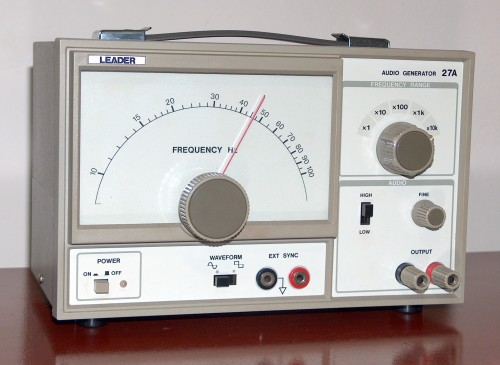 Audio Generator, LEADER, Model 27A