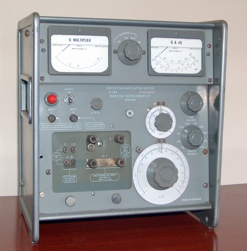 Circuit Magnification Meter, MARCONI, Model TF 1245