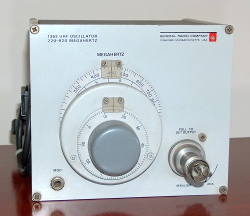 UHF Oscillator, GENERAL RADIO, Model 1362