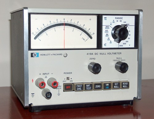DC Null Voltmeter, HEWLETT-PACKARD, Model 419A
