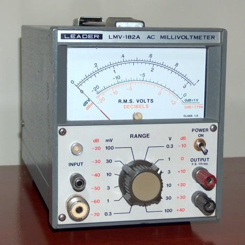 AC Millivoltmeter, LEADER, Model LMV-182A