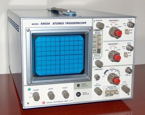 Stereo Triggerscope, KIKUSUI, Model 5502A