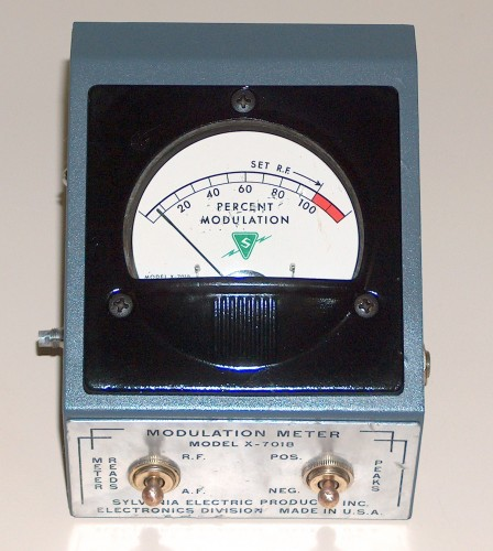 Modulation Meter, SYLVANIA ELECTRIC, Model X-0718