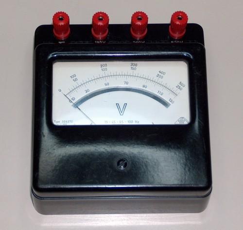 Voltmeter, xxx, Model xxx