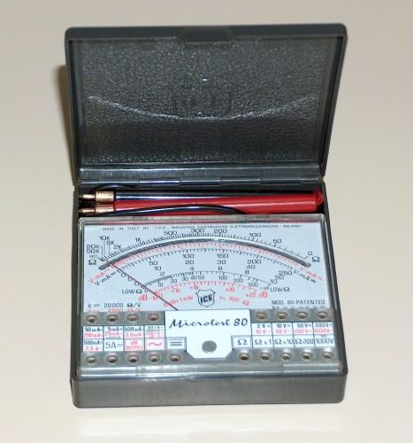 Multimeter, INDUSTRIA CONSTRUZIONI ELETTROMECCANICHE, Model Microtest 80