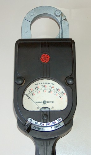 Clamp AC Volt-Ammeter, GENERAL ELECTRIC, Model 8AK1AAA1, (Version B)
