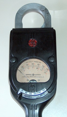 Clamp AC Volt-Ammeter, GENERAL ELECTRIC, Model 8AK1AAA1, (Version A)