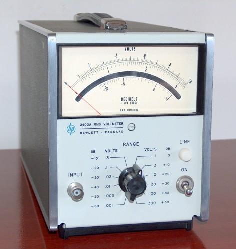 RMS Voltmeter, HEWLETT-PACKARD, Model 3400A