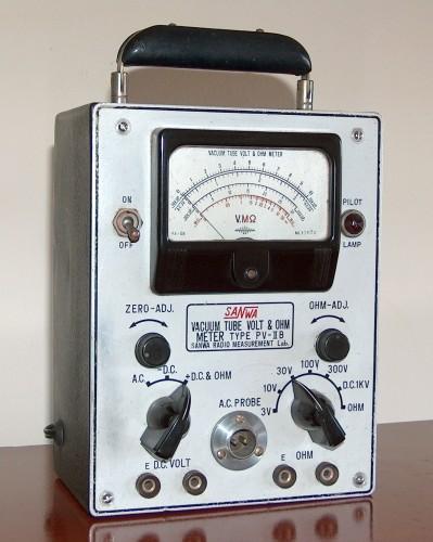 Vacuum Tube Volt & Ohm Meter, SANWA, Model PV-IIB