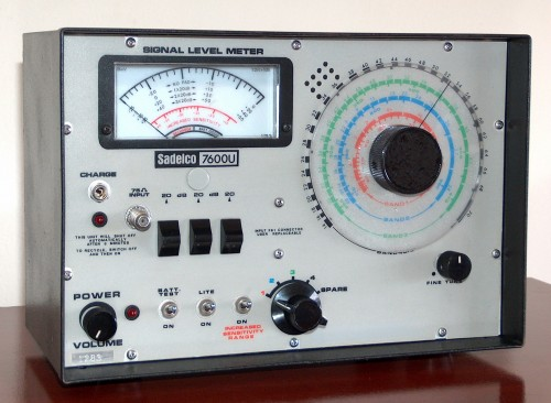 Signal Level Meter, SADELCO, Model 7600U