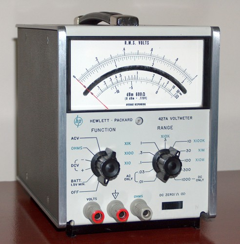 Voltmeter, HEWLETT & PACKARD, Model 427A (Version B)