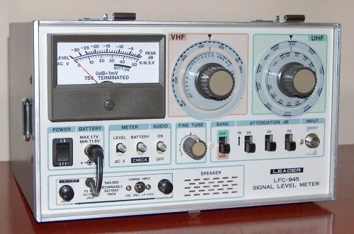 Signal Level Meter, LEADER, Model LFC-945