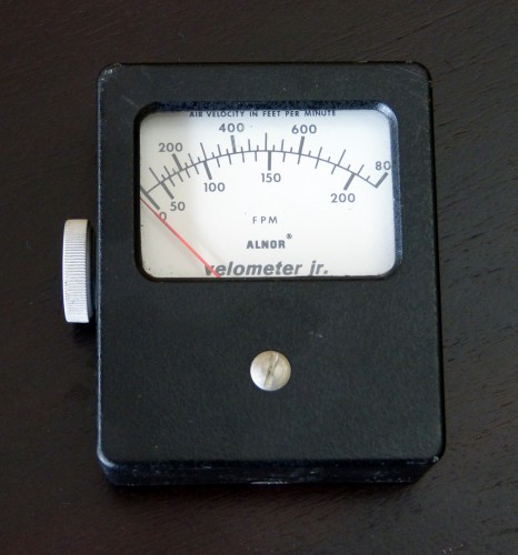 Velometer Jr., ALNOR, Model 0-200/800 FPM