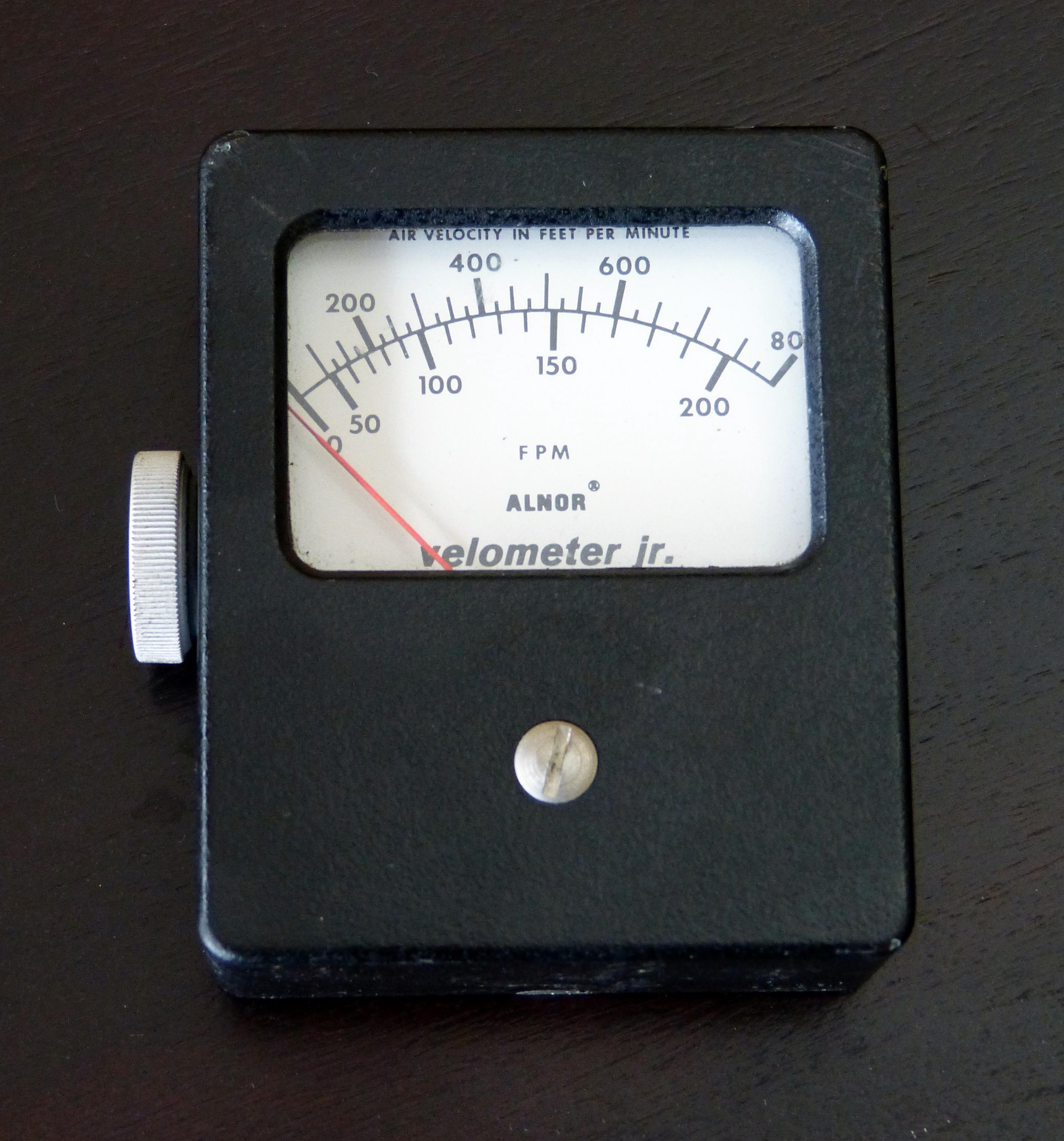 Velometer Jr ALNOR Model 0 200 800 FPM