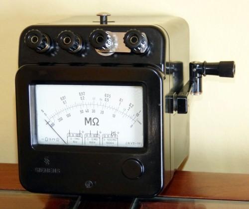 Megohmeter, SIEMENS, Model 1000v/500Mohm